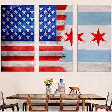 Chicagos Flag American Chicago Flag Canvas U2013 Zapwalls