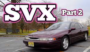 subaru svx back seat regular car reviews 1992 subaru svx part 2 youtube