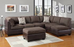 Living Room Sectional Couches Furniture Cozy Dark Sectional Couches With White Cushions For