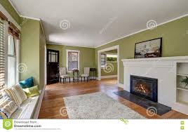 living room interior design of craftsman house stock photo image