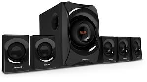 reliance digital home theater philips spa8000b 94 5 1 channel multimedia speakers system black