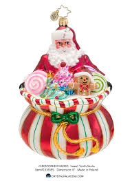christopher radko sweet tooth santa ornament