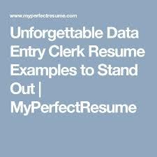 Data Entry Clerk Resume Sample by Best 25 Data Entry Clerk Ideas On Pinterest Data Entry From