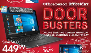 office depot black friday ad leaks computers office supplies