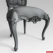 3d model classic chair cgtrader