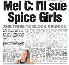 the spice girls must never reunite u0027 says melanie c as she finally