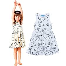 new 2016 baby dress summer style geometric animals pattern