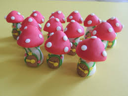 fairy cake topper edible cupcake cakes toppers fairy houses mushrooms