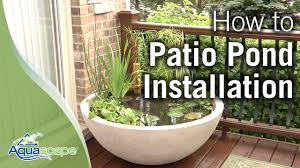patio fish pond containers an easy container water feature with