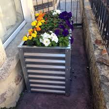 Planters On Wheels by Contemporary Corrugated Metal Raised Garden Bed Metal