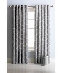 buy collection trellis lined eyelet curtains 117 x 137cm grey at