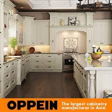 cuisine en forme de l blanc de forme de l armoire de cuisine en bois avec island op15