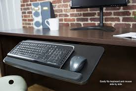 Computer Desk With Adjustable Keyboard Tray Vivo Adjustable Computer Keyboard Mouse Platform