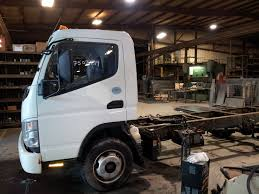 mitsubishi fuso camper overland vehicle preparation progress on the vehicle