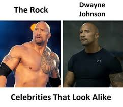 The Rock Meme - dwayne johnson the rock celebrities that look alike dwayne