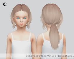 childs hairstyles sims 4 kalewa a chloe child hair retextured sims 4 hairs http