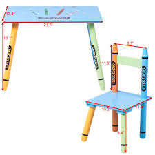 playroom table and chairs kid s crayon 3 piece wood activity playroom learning table chairs