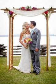 wedding arches and canopies colorful rustic vermont outdoor wedding outdoor wedding arches