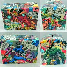 popular items for wooden money box on etsy comic book handmade