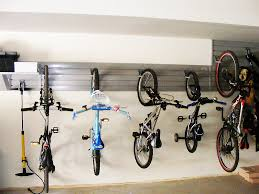 garage simple white pvc bike rack with bike organizer also