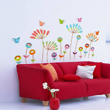 wall sticker zooyoo 360dsc zooyoo colorful blossoming flowers butterfly waterproof removable pvc vinly wall sticker home art decor kids nursery room decal 60 120cm lazada