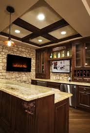 design farmhouse kitchen design with faux brick fireplace