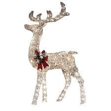 outdoor deer decorations lighted reindeer lawn