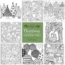 free christmas coloring pages drawings