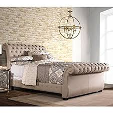 Tufted Sleigh Bed King Gerlane King Sleigh Bed In Graphite Kitchen