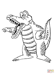 cartoon alligator coloring free printable coloring pages