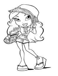 sasha beach bratz kidz coloring pages batch coloring