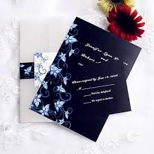 Black Wedding Invitations Blue And Black Pocket Wedding Invites With Free Rsvp Cards Ewpi057