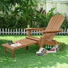 Adirondack Outdoor Furniture Outdoor Foldable Wood Pull Out Adirondack Chair Sunloungers