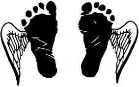 baby footprints wings car or truck window decal sticker