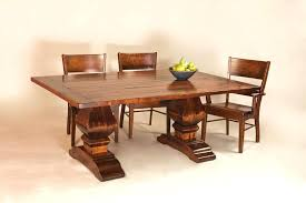 rustic trestle dining room tables rustic trestle dining table