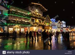 leavenworth wa light festival bavarian shops decorated for christmas during the christmas lights