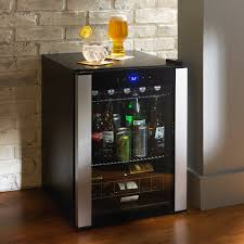 kitchen futuristic modern small beverage center with chrome