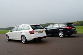 skoda octavia vrs estate vs ford focus st estate auto express