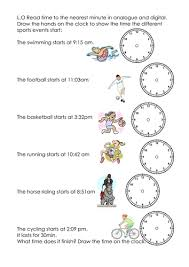 time to the nearest min by sophievans teaching resources tes