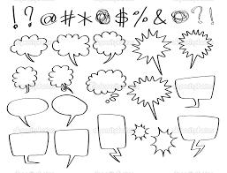 speech bubble hand drawn comic speech bubbles third u0026 final year