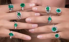 fine emerald rings images Colombian emerald rings emerald engagement rings in 18k white gold jpg