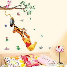pooh tree animal cartoon vinyl wall stickers kids rooms