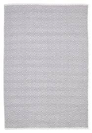 Cotton Flat Weave Rug Spark Diamond Grey Cotton Flatweave Rug Rugtastic
