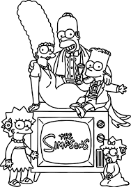 simpsons coloring wecoloringpage