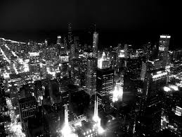 chicago at night and wallpaper