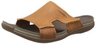 merrell men u0027s bask slide thong sandals beige size shoes flip flops