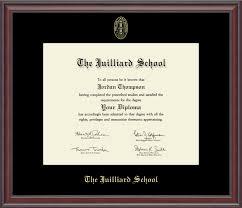 virginia tech diploma frame the juilliard school gold embossed diploma frame in studio item