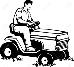 riding lawn mower clipart clipart collection man on a riding