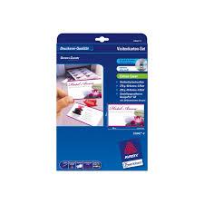 avery business card kit laser satin white pack 64 staples