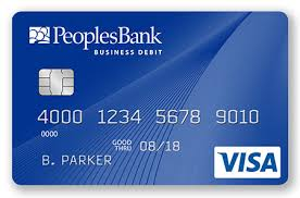 Card One Banking Business Account Peoplesbank Business Bank Cards